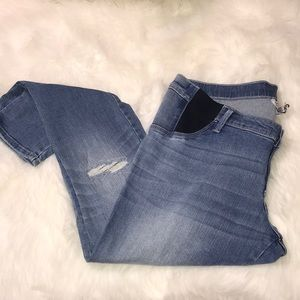 Distressed Skinny Maternity Jeans LARGE